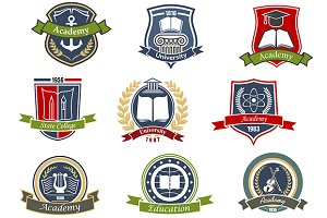 Academy university college icons