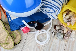 Beach Items Still Life