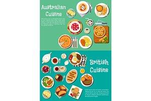Australian and british cuisine