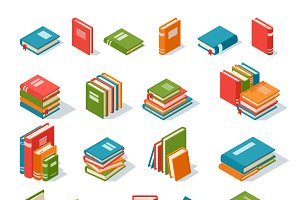Books isolated vector set