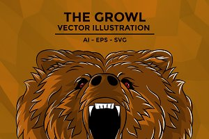 The Growl - Bear Illustration
