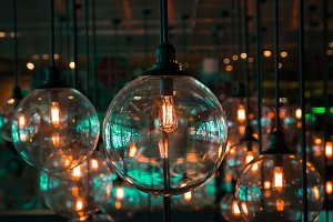 Retro style lighting bulb