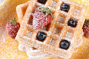 Fruity Waffles Closeup
