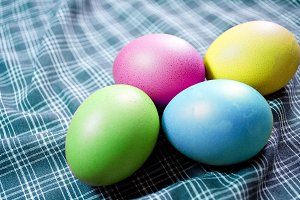 Colorful Hen eggs