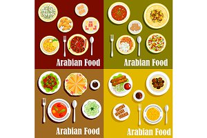 Arabian cuisine dishes