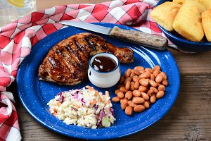 Barbecue Chicken Plate