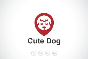 Pin Dog Logo Template