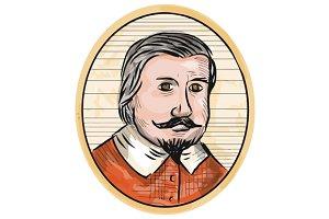 Medieval Aristocrat Gentleman Oval