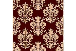 Fleur-de-lis vintage pattern