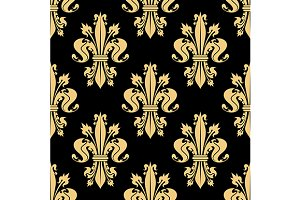 French lilies seamless pattern