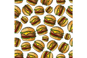 Cheeseburgers pattern background