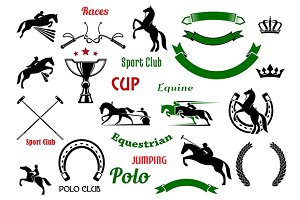 Equestrian and polo sports elements