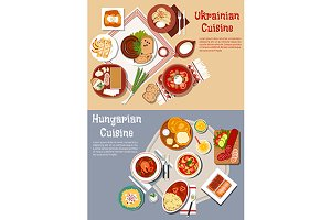 Ukrainian and hungarian cuisine menu
