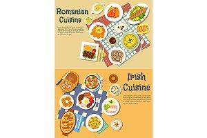 Romanian and irish cuisine