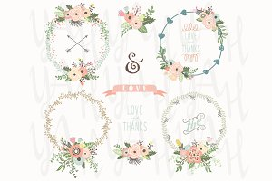Floral Wreath Bouquet Collection