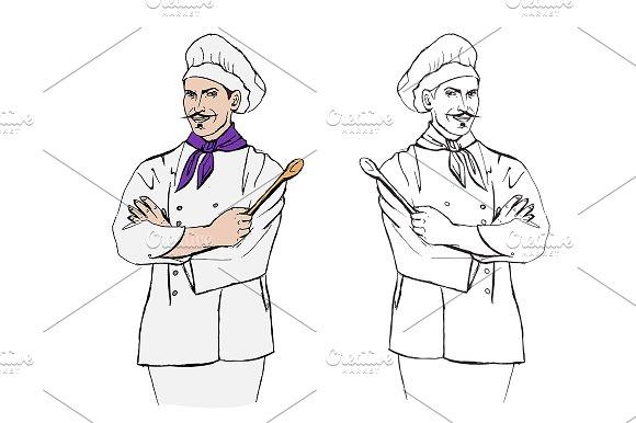 Chef cook. Vector illustration. - Illustrations