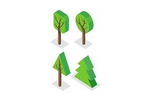 Green Tree Set Icons