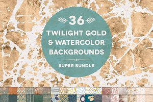 36 Twilight Gold & Watercolors