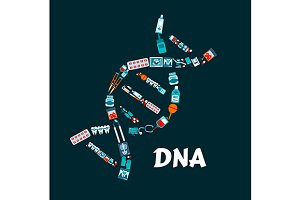 DNA helix symbol