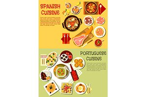 Spanish and portuguese cuisine menu