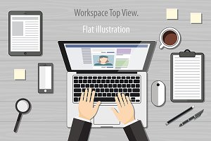 laptop keyboard vector top view