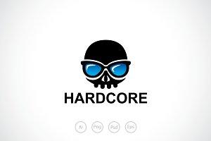 Skull Hardcore Geek Logo Template