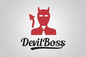 Devil boss logo template