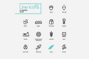 Allergens - Pictograms Set