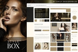 StyleBox Blog Graphics/Website Kit 4