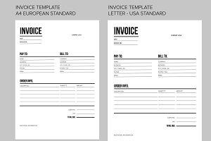 Invoice template - US and EU