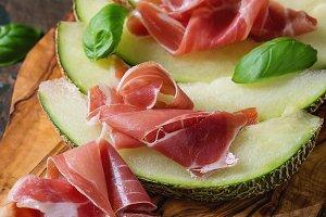 Melon with ham