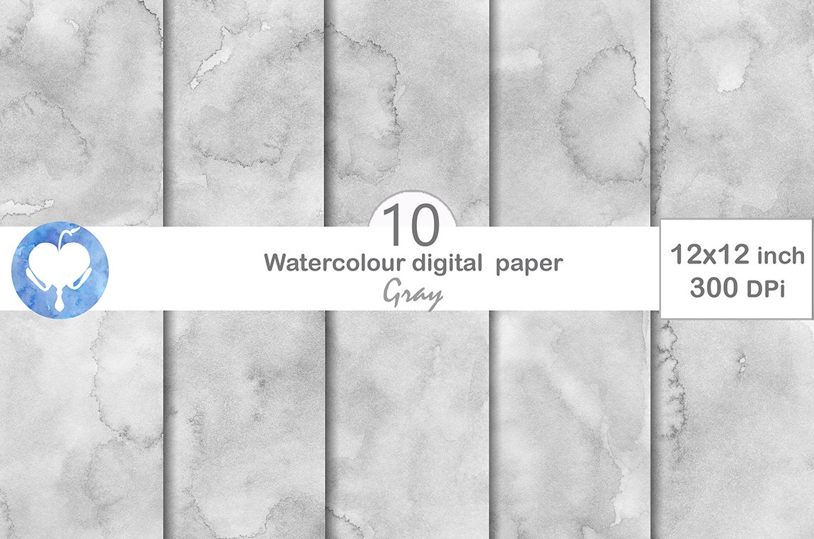 Gray Digital Paper Custom Designed Textures Creative Market