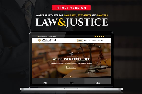 LawJustice Law Firm HTML Template HTMLCSS Themes Creative Market - Law firm templates