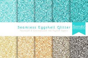 Seamless Eggshell Blue Glitter