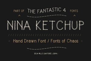 Nina Ketchup - font.