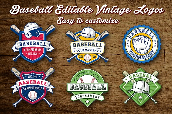 Baseball Logo Templates Creative Market