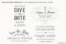 Save the Date Overlays - Set 6