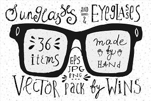Eyeglasses & Sunglasses Doodle set