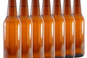 set of bottles of beer