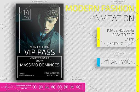 Modern Fashion  Invitation Card Pass