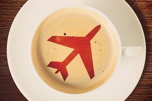 airport coffee cup