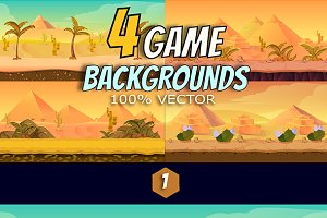 4 Desert Game Backgrounds