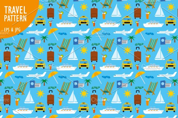 Travel Seamless Patterns