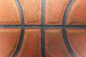 closeup of a basketball ball