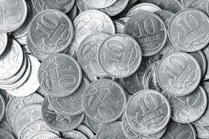 heap of silver coins