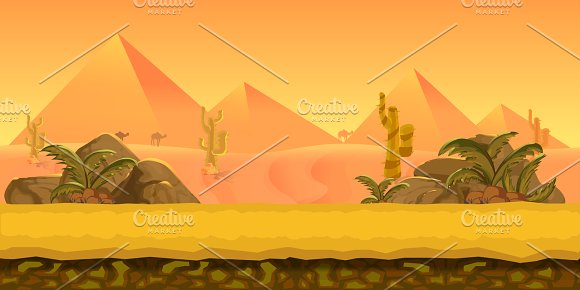 Pyramids Game Background