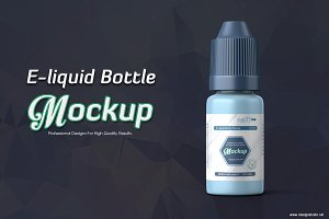 E-liquid Bottle Mockup