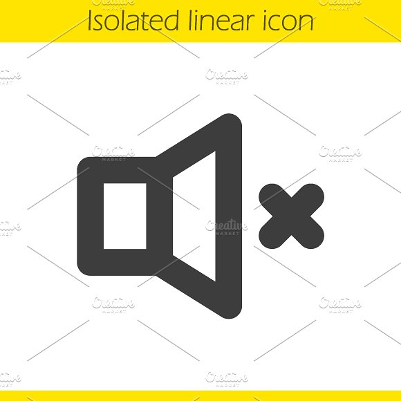 Sound off linear icon. Vector