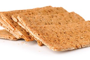 crisp bread isolated on white