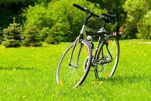 bicycle on grass